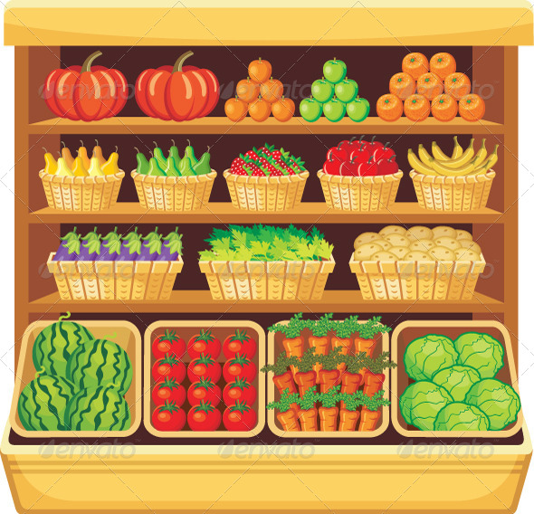 GraphicRiver Supermarket Vegetables and Fruits 5912233