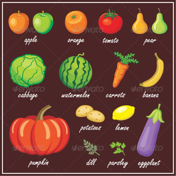 GraphicRiver Vegetables and Fruits 5912259