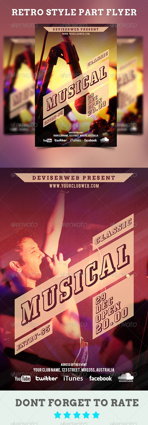GraphicRiver Retro Style Classic Musical Party Flyer 5830392