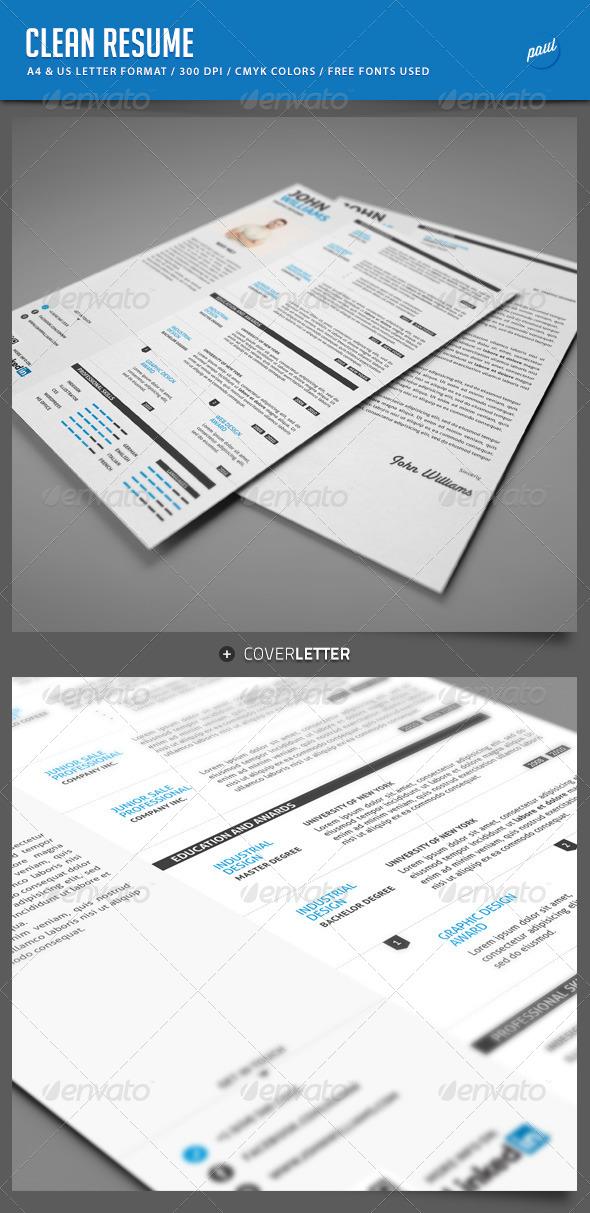 GraphicRiver Clean Resume Vol.1 5282934