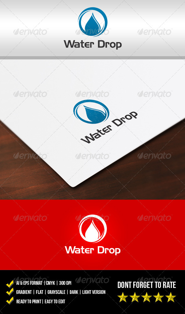 GraphicRiver Water Drop Logo 5912359