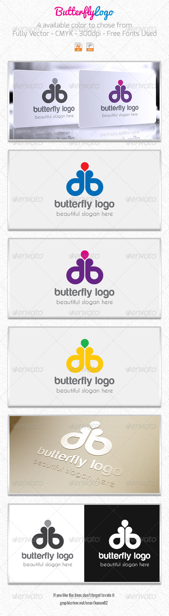 GraphicRiver Butterfly Logo 5912412