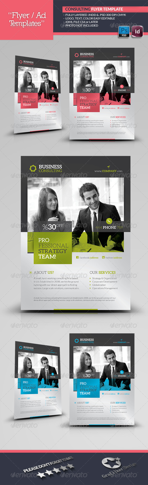 Business Consulting Flyer Template - Corporate Flyers