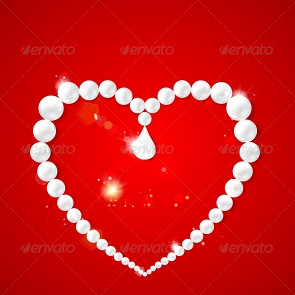 GraphicRiver Heart Frame with Pearls 5912433