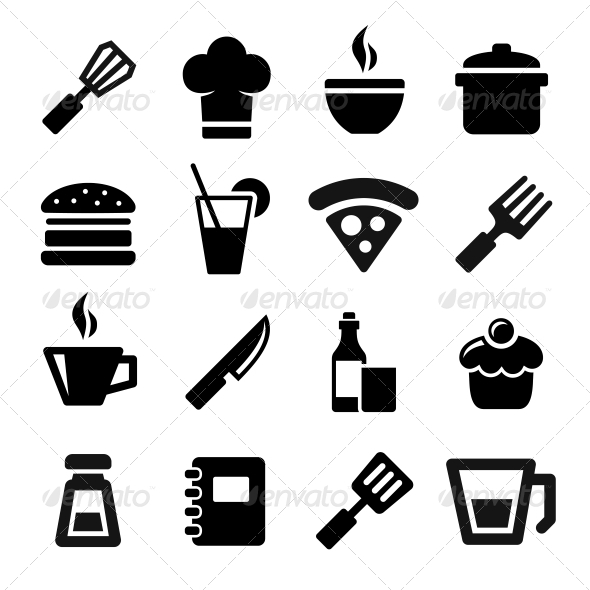 GraphicRiver Kitchen Icons 5912558