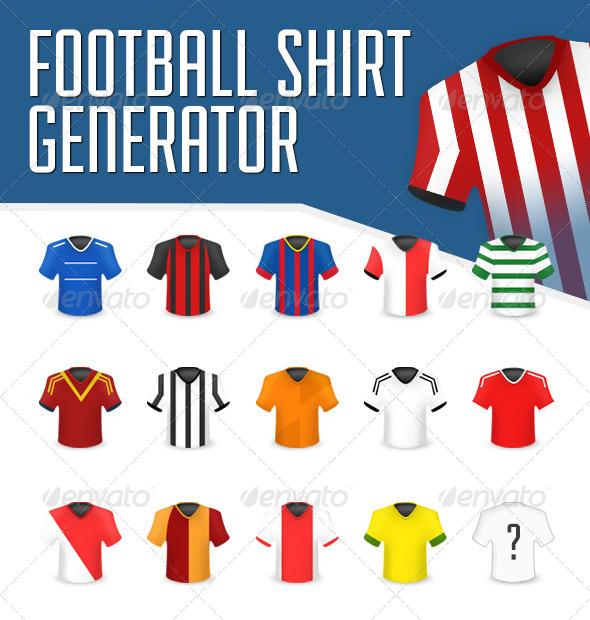 Football Shirt Icon Generator - Miscellaneous Illustrations