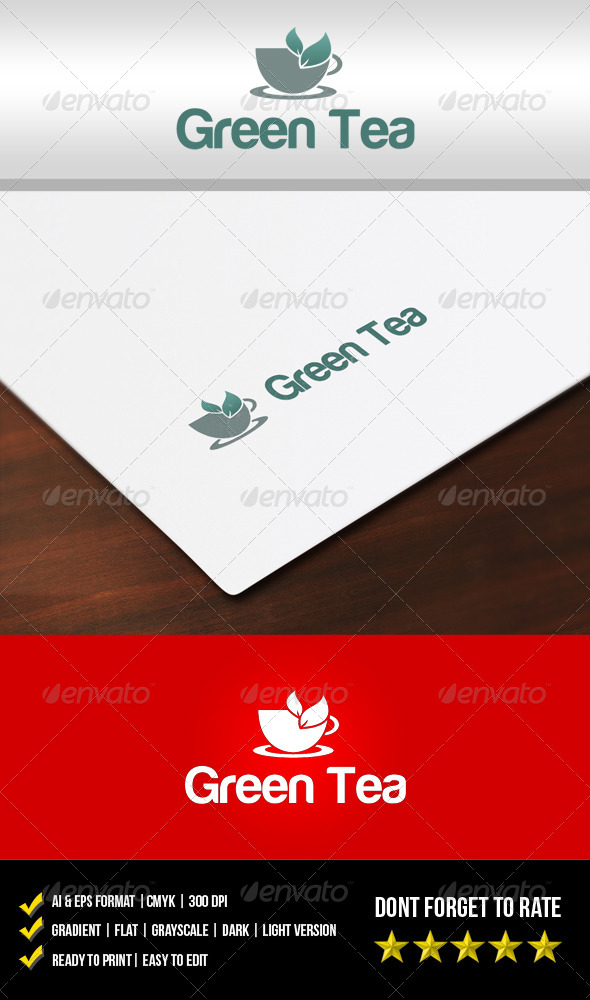 GraphicRiver Green Tea Logo 5912703