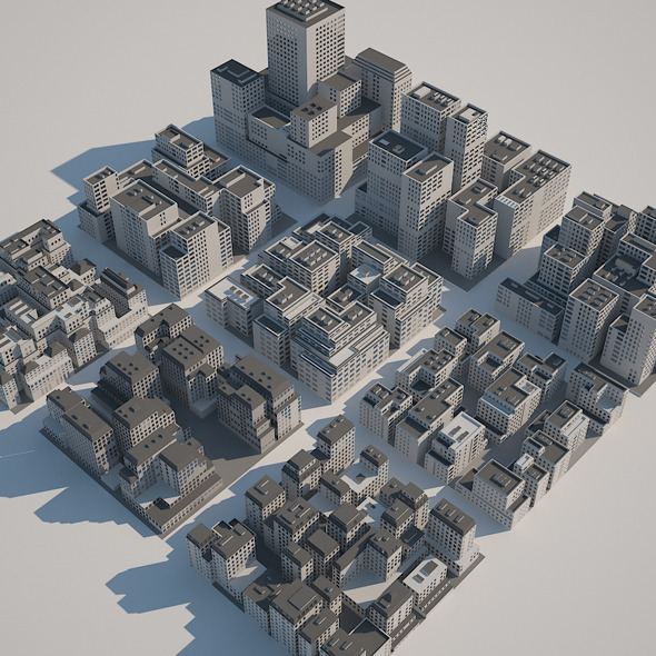 3DOcean Buildings Set A 5912775
