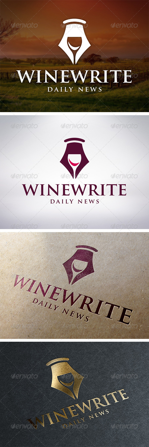 GraphicRiver Wine Writer Logo Template 5913182