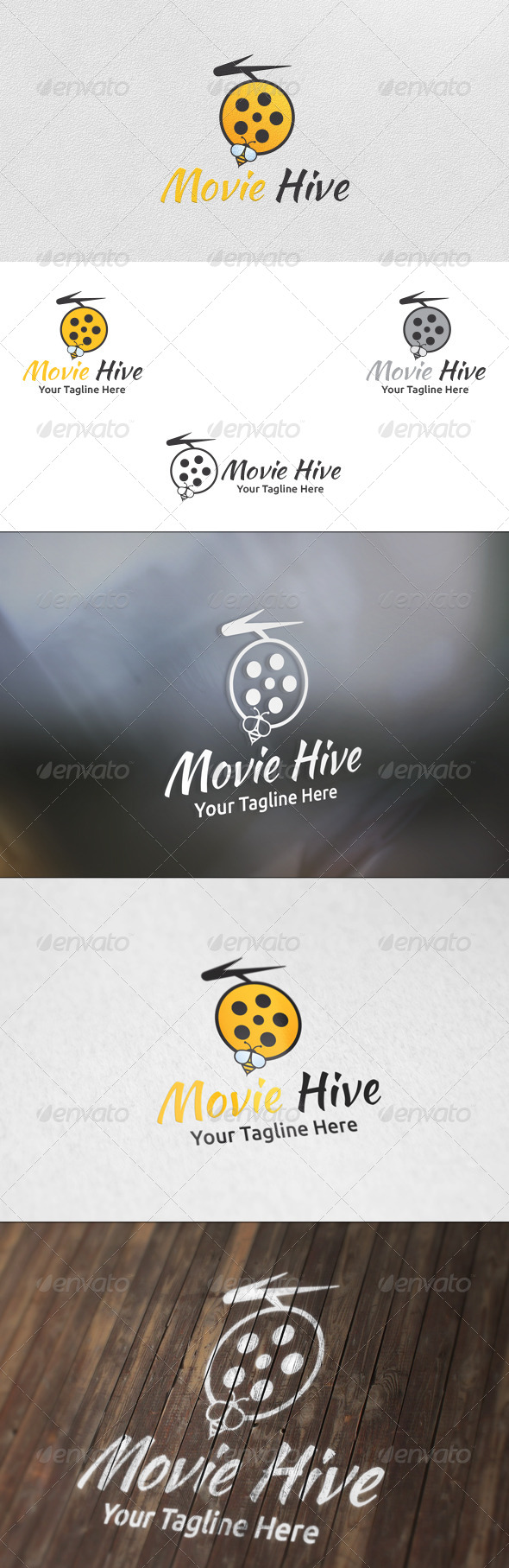 GraphicRiver Movie Hive Logo Template 5913183