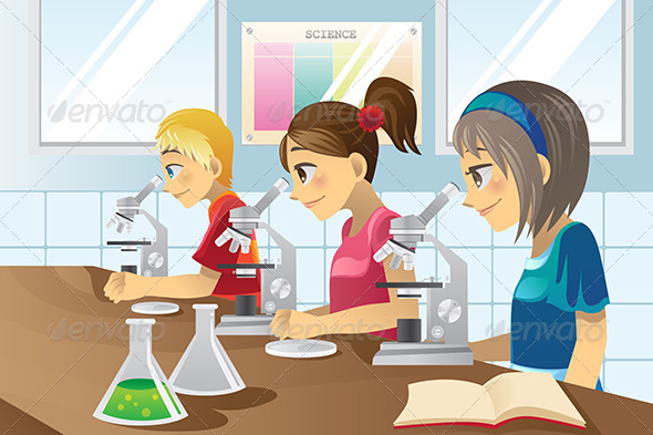 GraphicRiver Kids in Science Lab 5913191