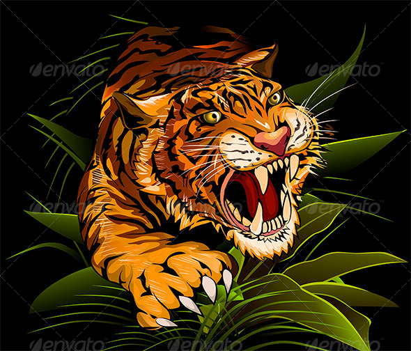GraphicRiver The Hunting Tiger 5913342