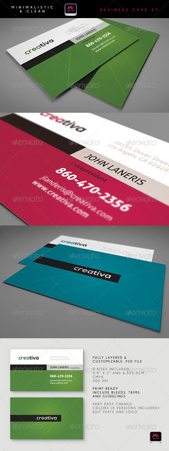 GraphicRiver Clean Business Card Template 07 5913412