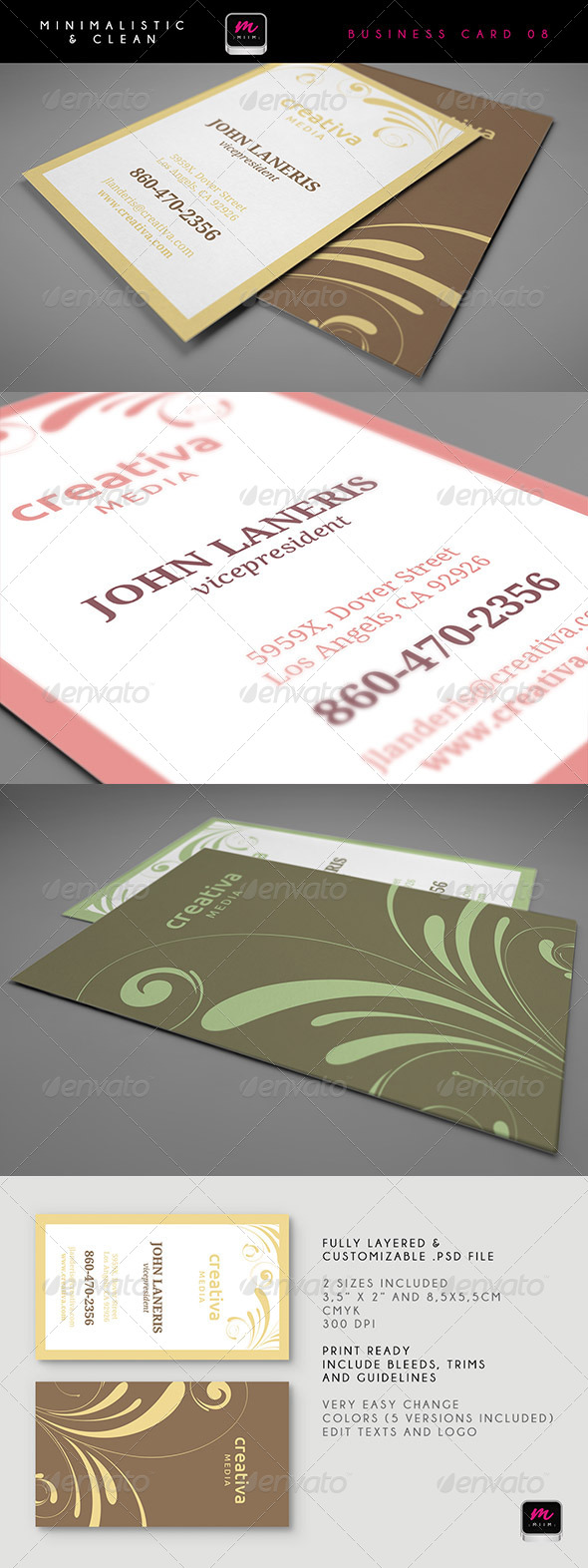GraphicRiver Clean Business Card Template 08 5913428