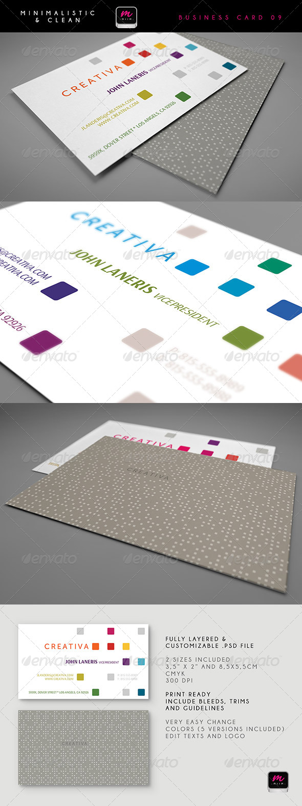 GraphicRiver Clean Business Card Template 09 5913435