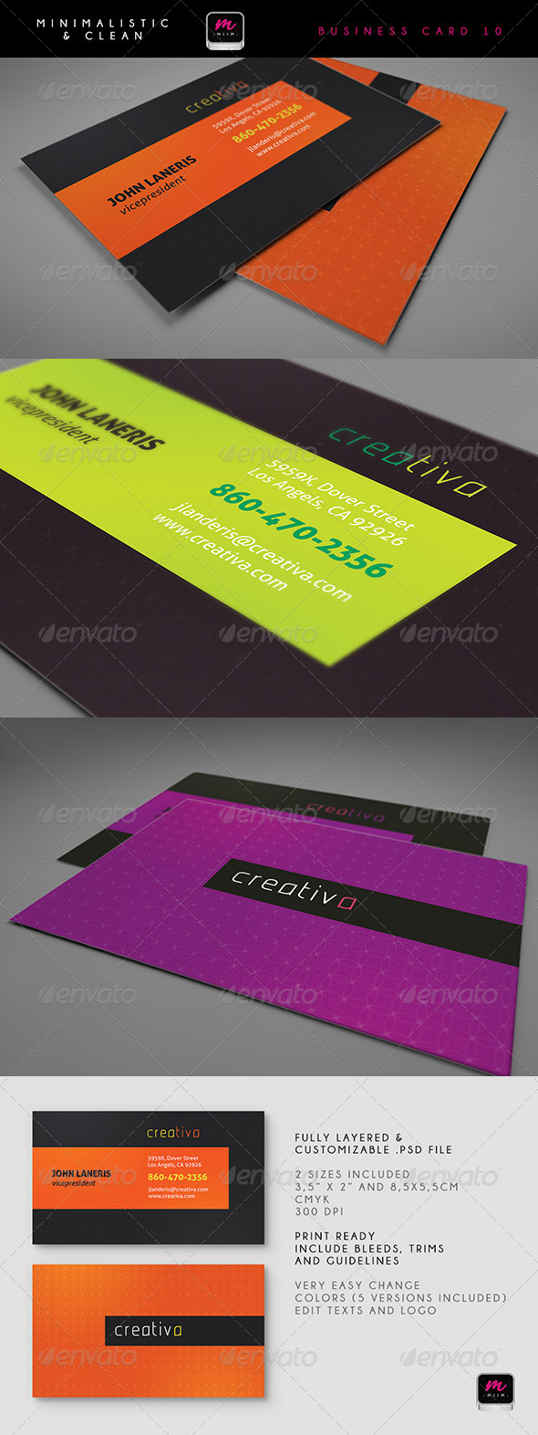 GraphicRiver Clean Business Card Template 10 5913439