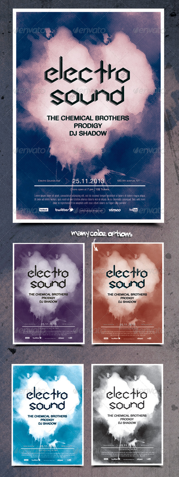 GraphicRiver Electro Techno Flyer Poster 5913463