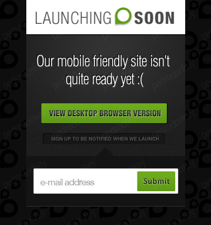 Launching Soon - Under Construction Page - Launching Soon Home Page - Mobile Version
