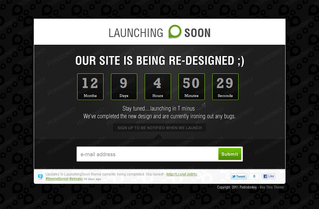 Launching Soon - Under Construction Page - Launching Soon Home Page with Countdown Timer
