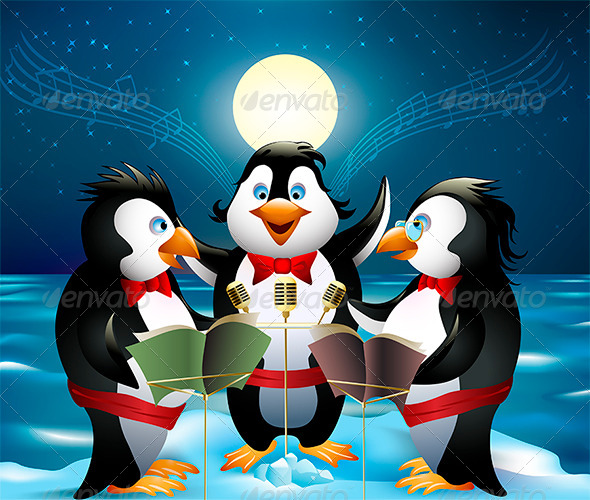 GraphicRiver Night Song of Penguins 5913750