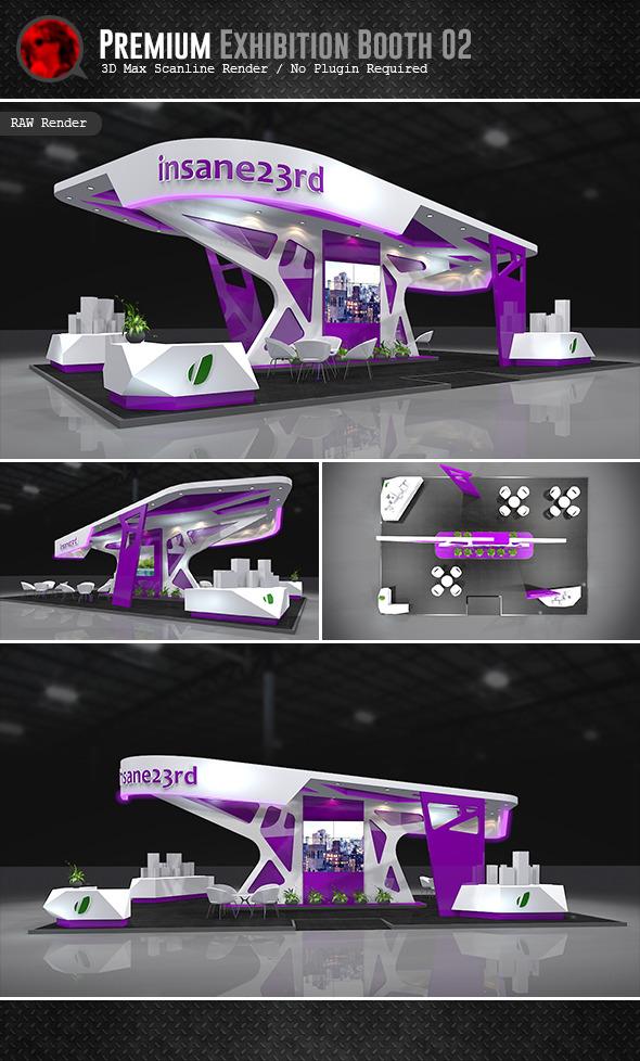 Premium Exhibition Design 02 - 3DOcean Item for Sale