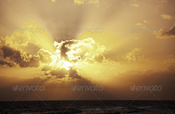 Sea sunset - Stock Photo - Images
