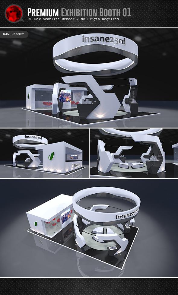 Premium Exhibition Design 01 - 3DOcean Item for Sale