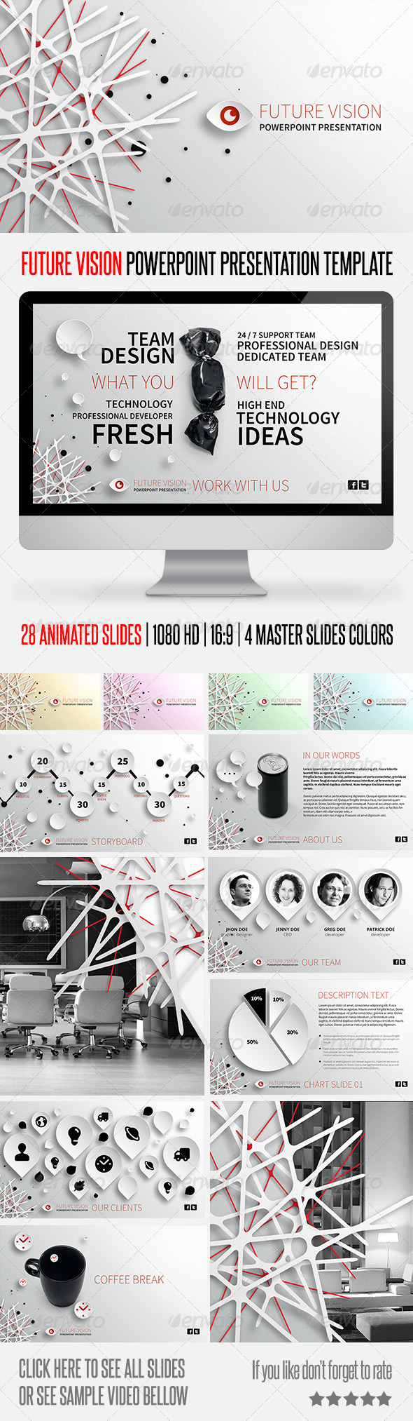 GraphicRiver Future Vision Powerpoint Presentation Template 5913913
