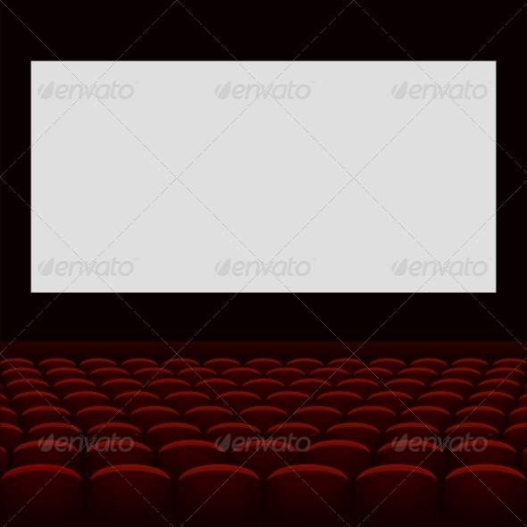 GraphicRiver Cinema Theatre with Screen and Seats 5913936