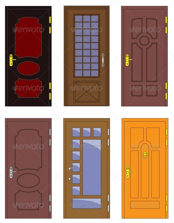GraphicRiver Classic Interior and Front Wooden Doors 5914016