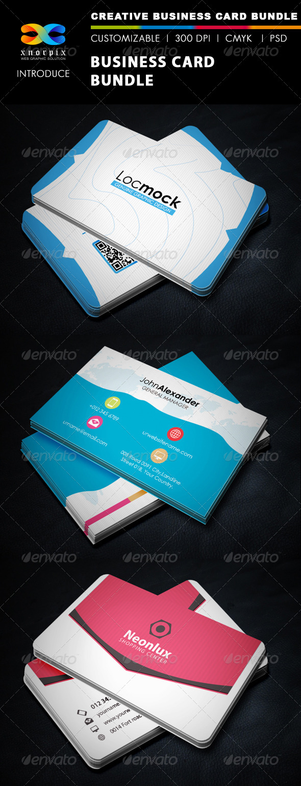 GraphicRiver Business Card Bundle 3 in 1-Vol 32 5914170