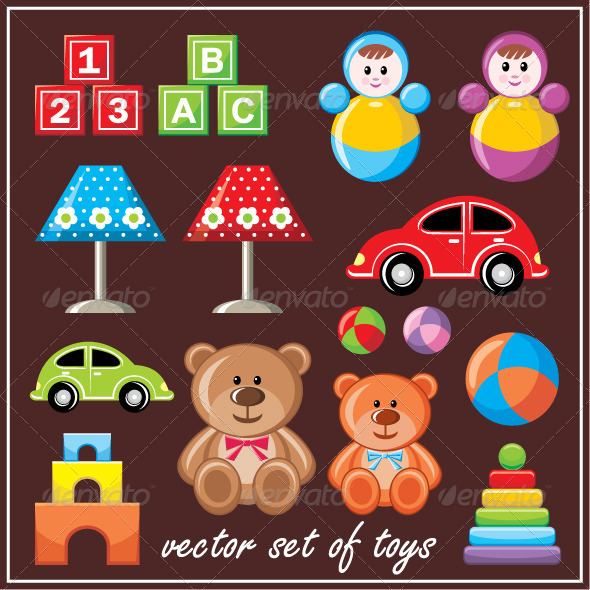 GraphicRiver Set of Toys 5914177