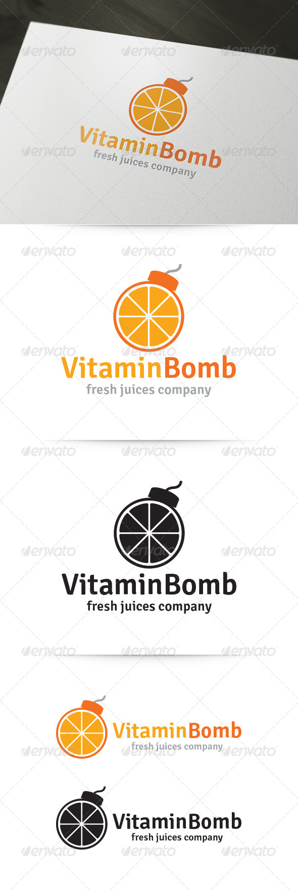 GraphicRiver Vitamin Bomb Logo 5914179