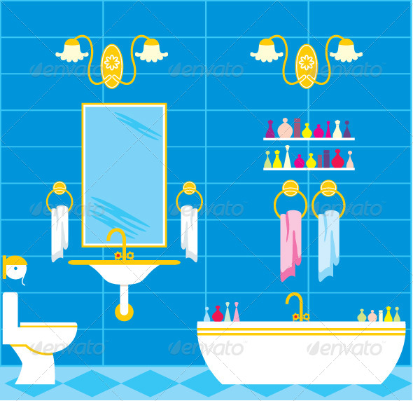 GraphicRiver Picture of a Bathroom with Accessories and Lighting 5914195