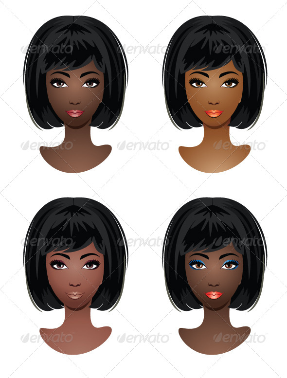 GraphicRiver Makeup for African-American Women 5914271