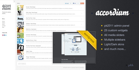 WordPress Accordium Theme