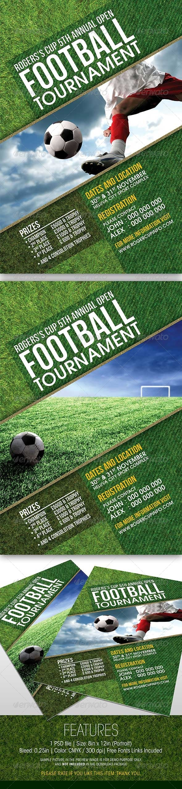 GraphicRiver Football Tournament Event Flyer 5915020