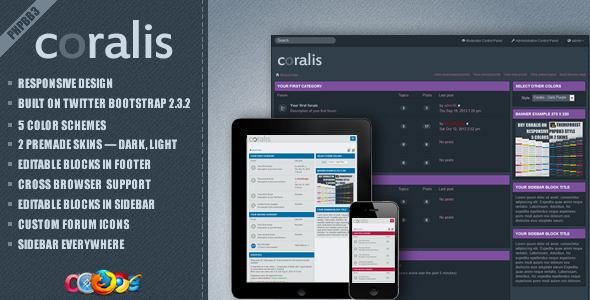 ThemeForest Coralis Responsive Theme for phpBB3 5891252