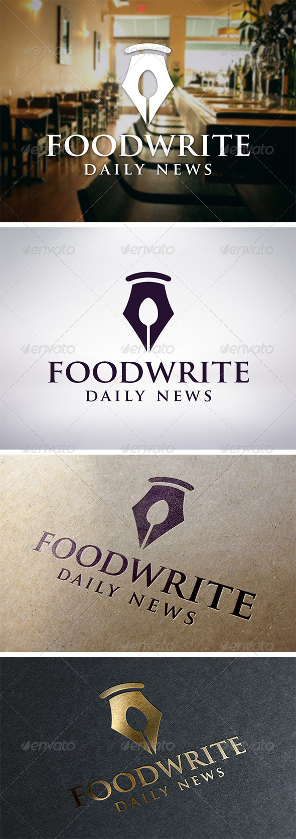 Recipe Writer Logo Template