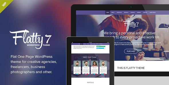Flatty 7 - One Page Parallax WordPress Theme