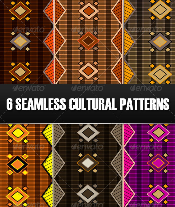 GraphicRiver 6 Seamless Cultural Patterns 5841179