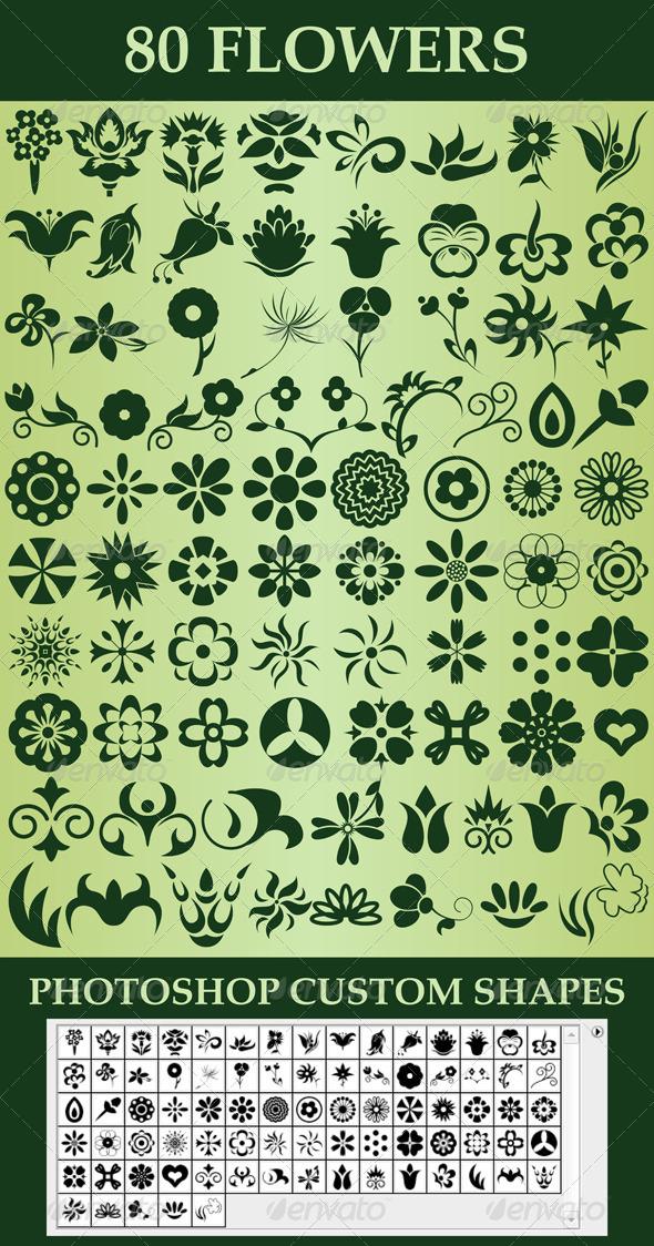 GraphicRiver Flowers Custom Shapes 5915351
