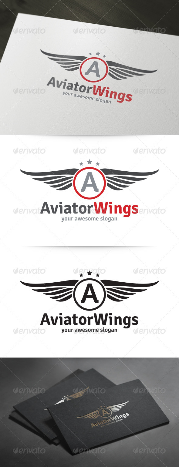 GraphicRiver Aviator Wings Logo 5916111