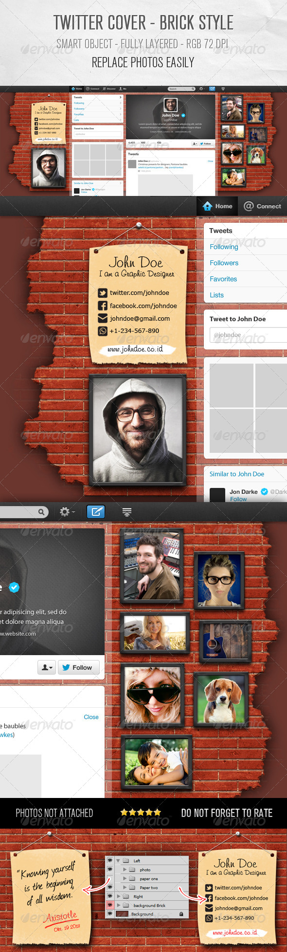GraphicRiver Twitter Background Design Brick Style 5916261