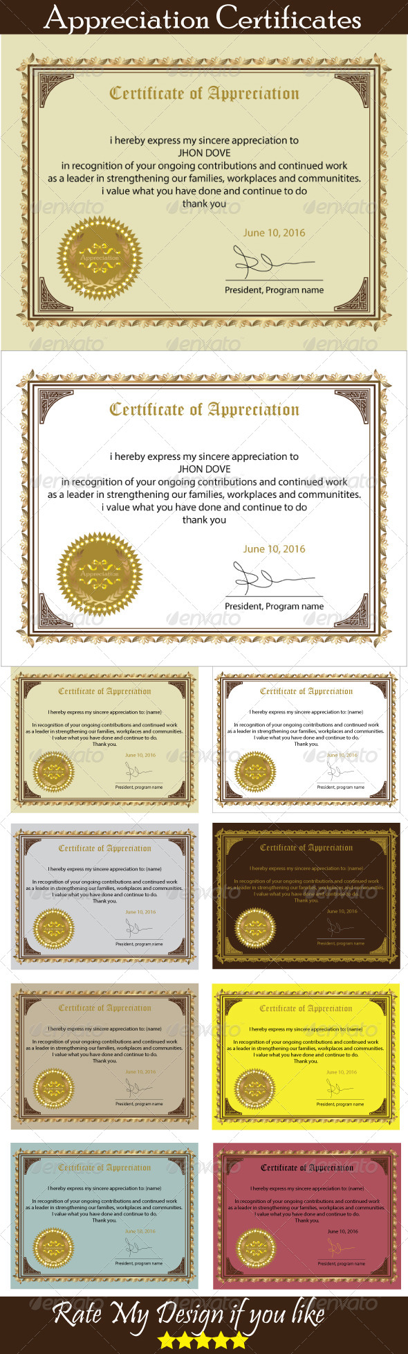 GraphicRiver Certificate of Appreciation 5826355