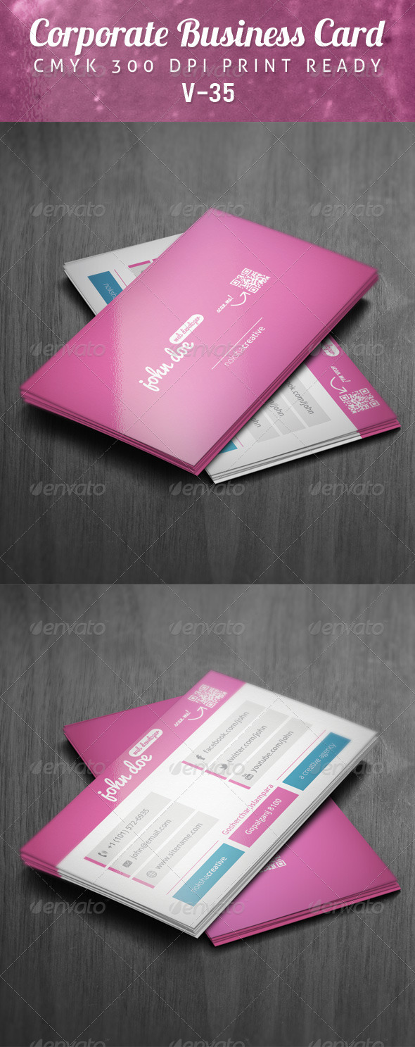 GraphicRiver Corporate Business Card V-35 5916344