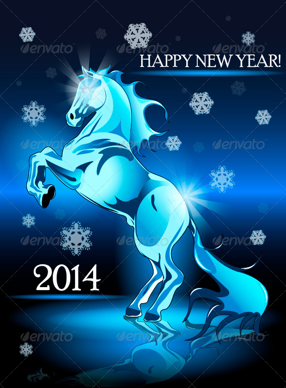 GraphicRiver New Year Horse 5916391