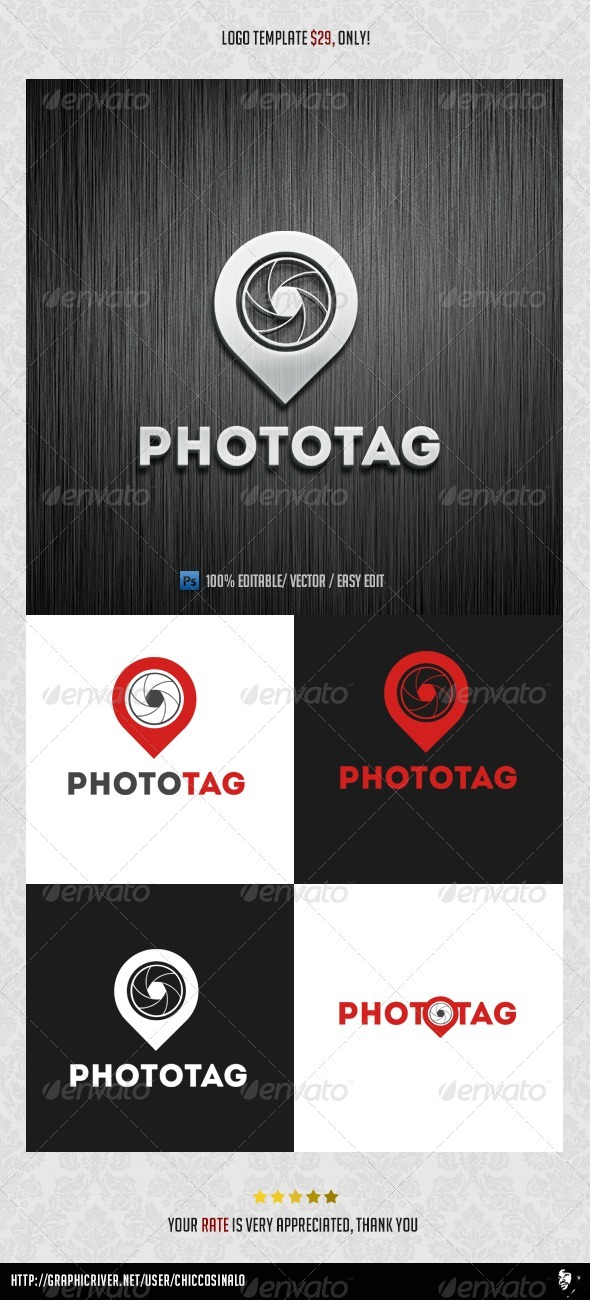 Photo Tag Logo Template - Abstract Logo Templates