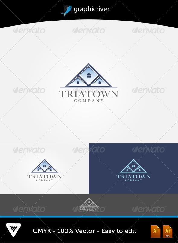 GraphicRiver TriaTown Logo 5916649