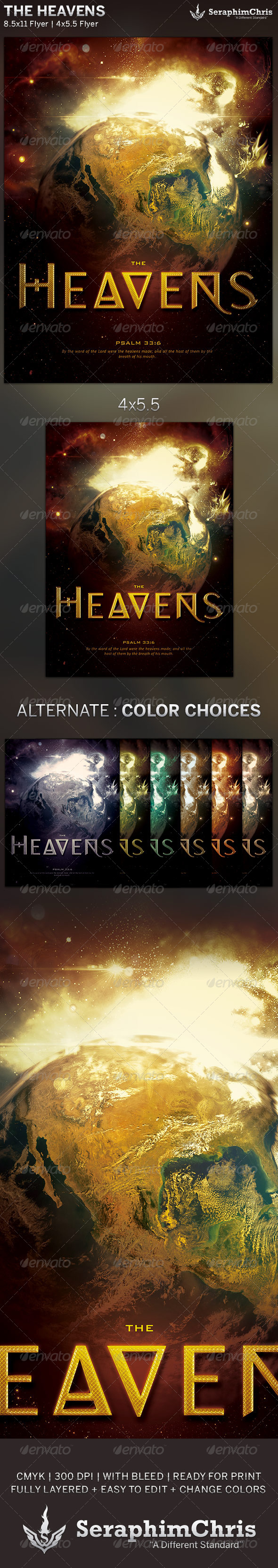 GraphicRiver The Heavens Church Flyer Template 5916692